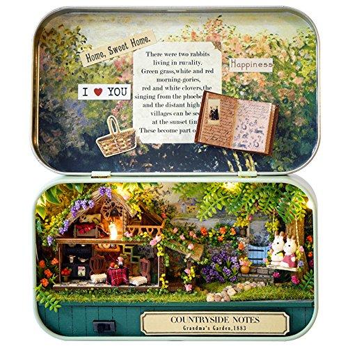 Countryside Boxes (Box Theater,Nasion.V Handmade Theme Dollhouse Miniature DIY Exquisite Retro Tin Box (Countryside))