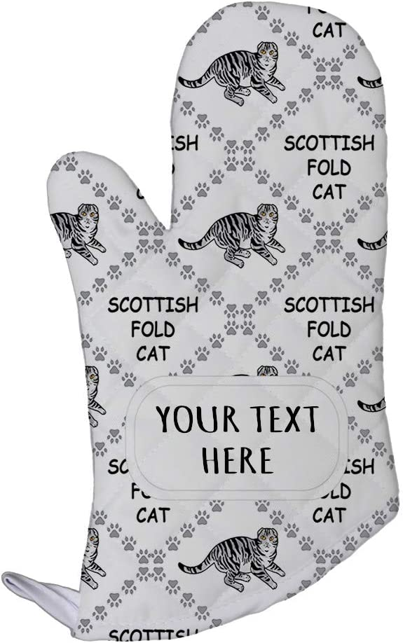 Style In Print Polyester Oven Mitt Custom Scottish Fold Cat Paws Pattern E Adults Kitchen Mittens