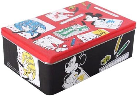 Home Line Caja de Metal Infantil Rectangular Mickey Mouse (20x13x6 cm): Amazon.es: Hogar