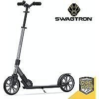 Swagtron K8 Titan Commuter Patinete para Adultos, Adolescentes | Plegable, Ligero con rodamientos de Ruedas ABEC-9 | Altura Ajustable, Carga máxima de 220 Libras