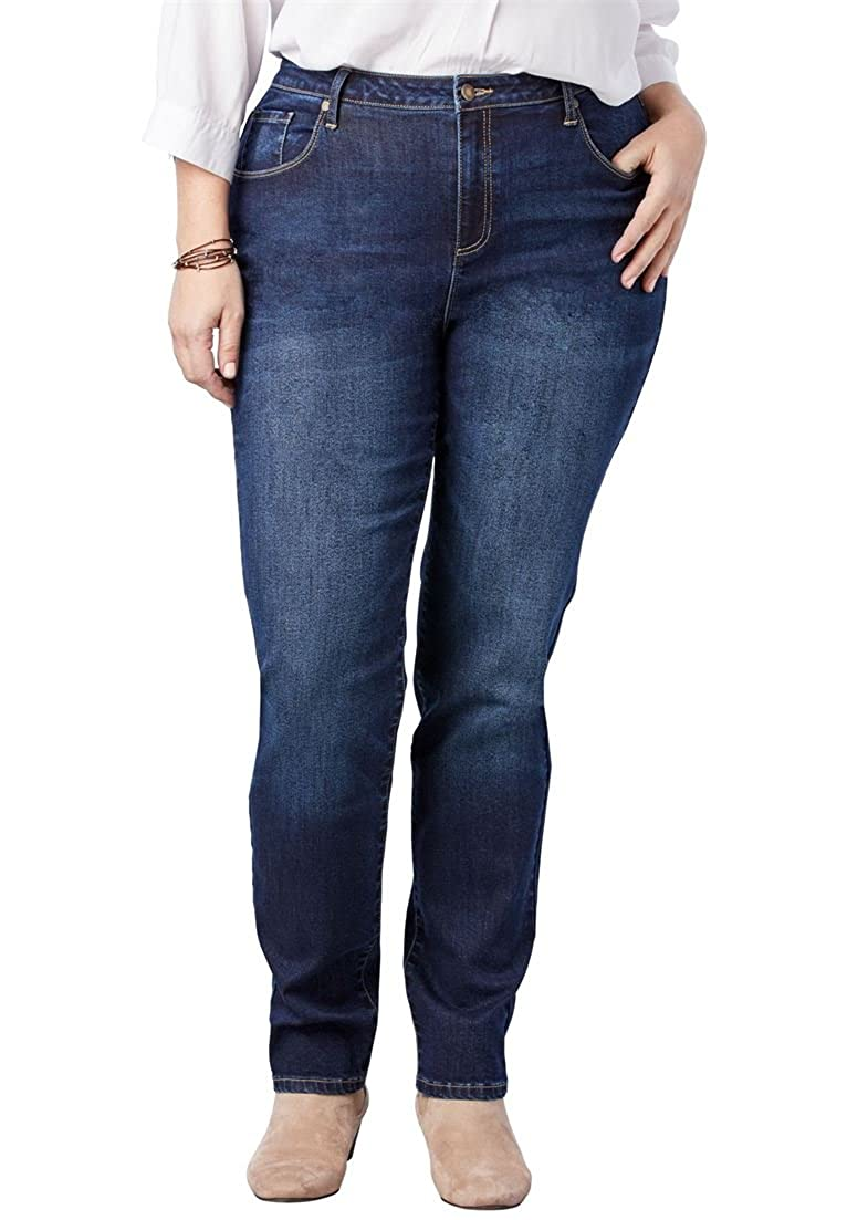 Woman Within Plus Size Perfect Straight Leg Jean