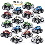 Prextex Pack of 24 Monster Pullback Trucks Stocking Stuffers Party Favors