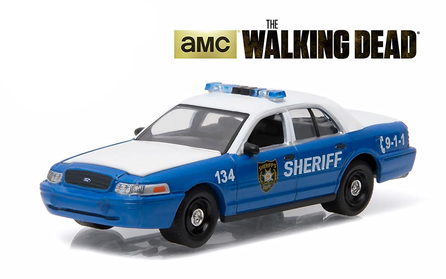 Rick and Shane's 2001 Ford Crown Victoria Police Interceptor The Walking Dead TV Series 2010 2015 1 64 by Greenlight 44730 F