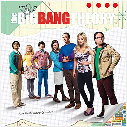 The Big Bang Theory Calendar 2020 Set - Deluxe 2020 The Big Bang Theory Wall Calendar with Over 100 Calendar Stickers (The Big Bang Theory Gifts, Office Supplies) (Big Bang Wall Calendar)