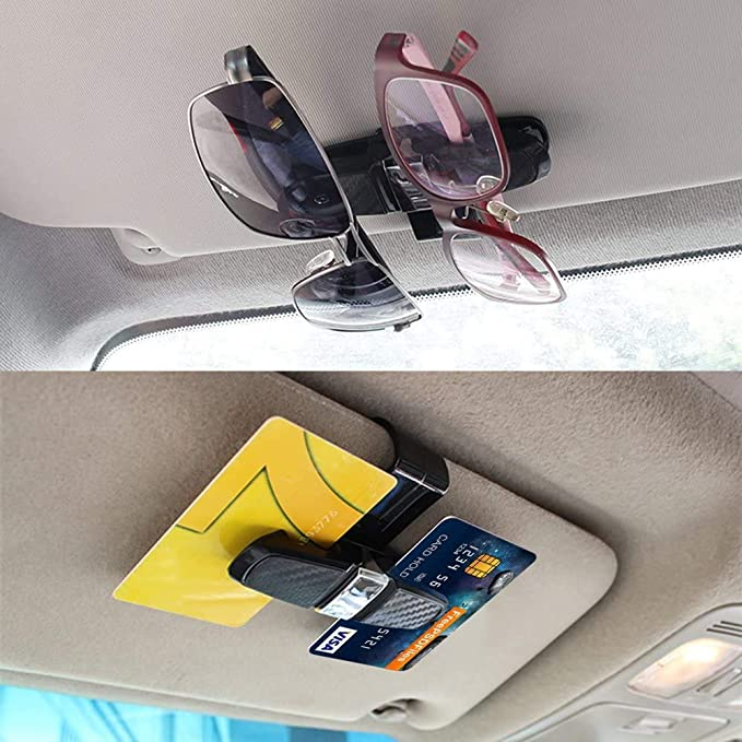 Mosie Brillenhalter Für Auto Sonnenblende Sonnenbrillenhalter Clip Aufhänger Brillenhalterung Für Auto 2 Stück Auto