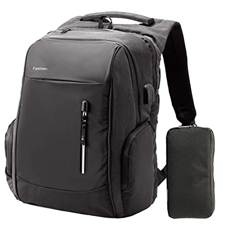 adc29ec1a87 Laptop Backpack 17.3 Inch - Large Capacity Waterproof Anti Theft College  School Backpack with USB Charging