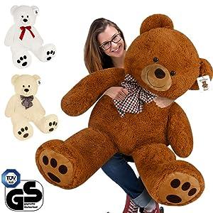 Deuba Orsacchiotto gigante XL 100 cm bianco orso di peluche giocattoli bambini...