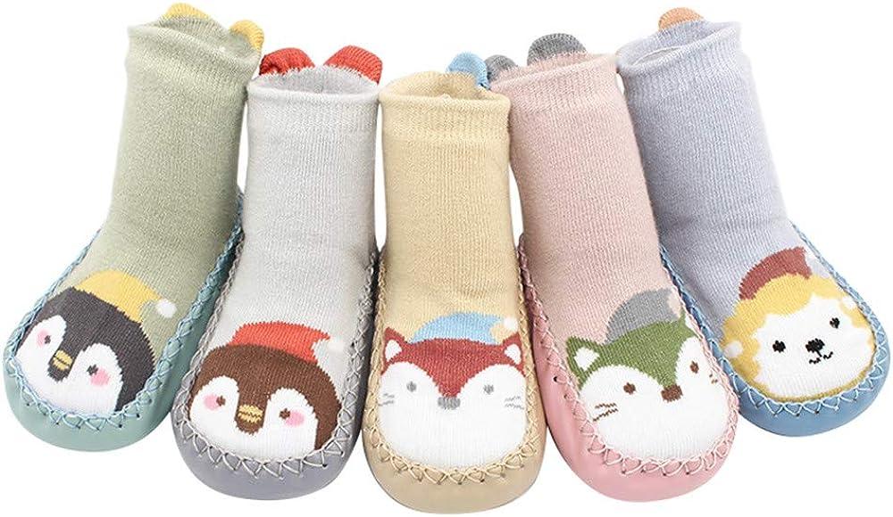 Baby Infant Socks,Christmas Newborn Baby Step Socks Xmas Boys Girls Floor Socks Anti-Slip Indoor Slipper Socks Crib Shoes for 0-24M