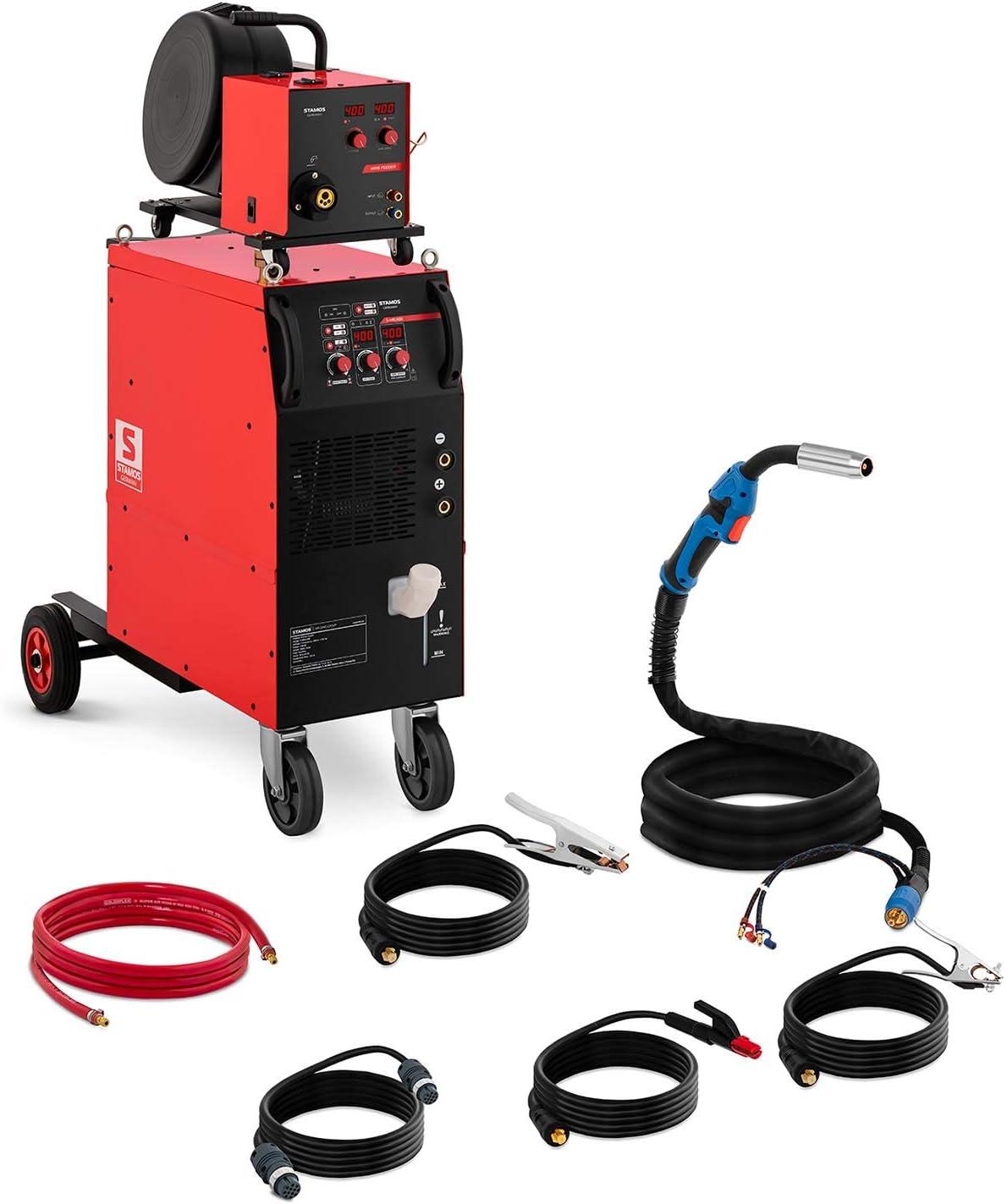 Stamos Máquina De Soldar MIG/MAG De Hilo Tubular Soldador Flux S-MIG 400 (Refrigeración por agua, MIG/MAG/MMA/FLUX, 400 A - 400 V)