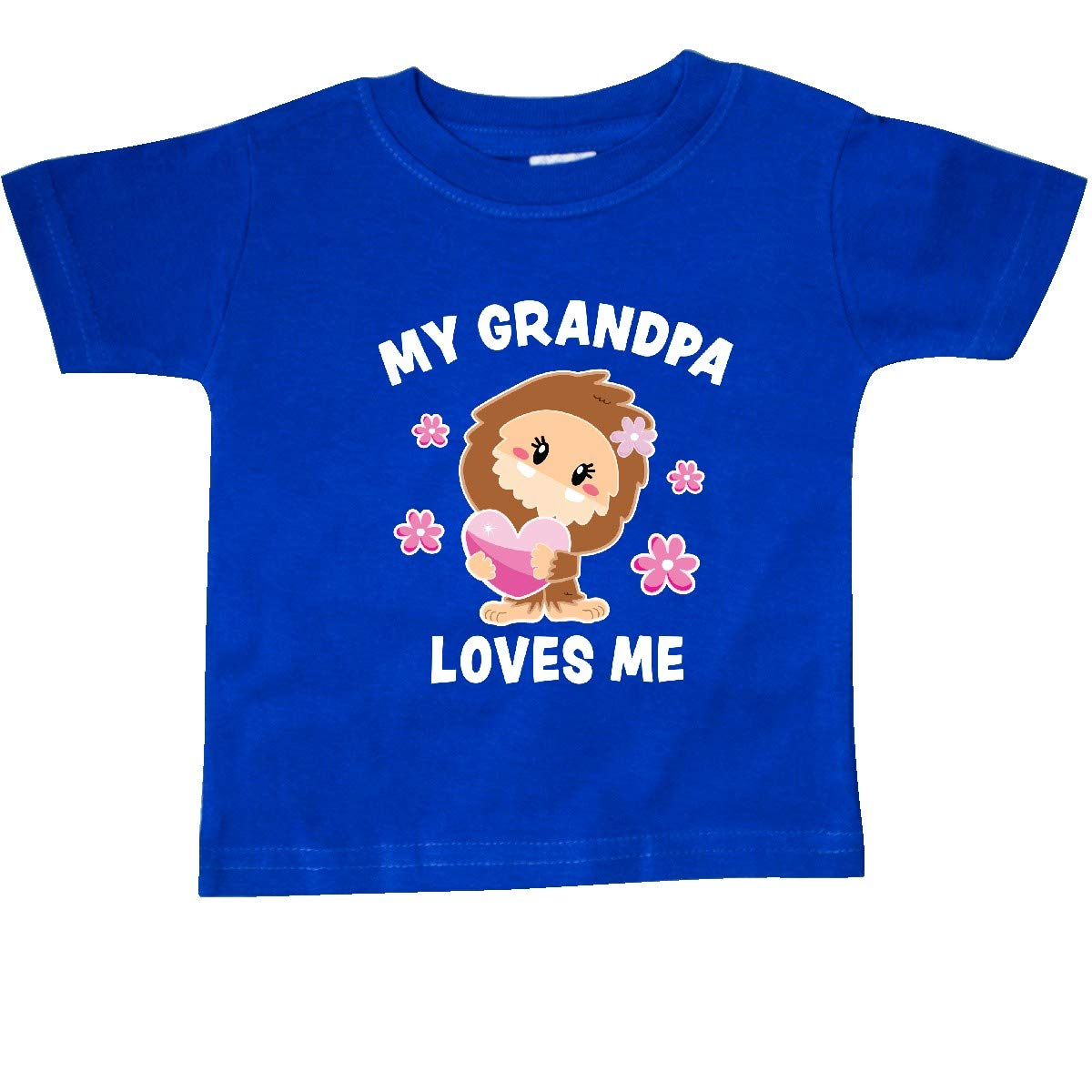 inktastic My Grandpa Loves Me with Bigfoot Baby T-Shirt