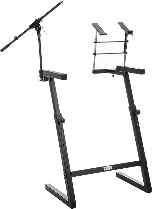 Classic Cantabile KWS-100 soporte para teclado con brazo para micrófono y soporte para ordenador