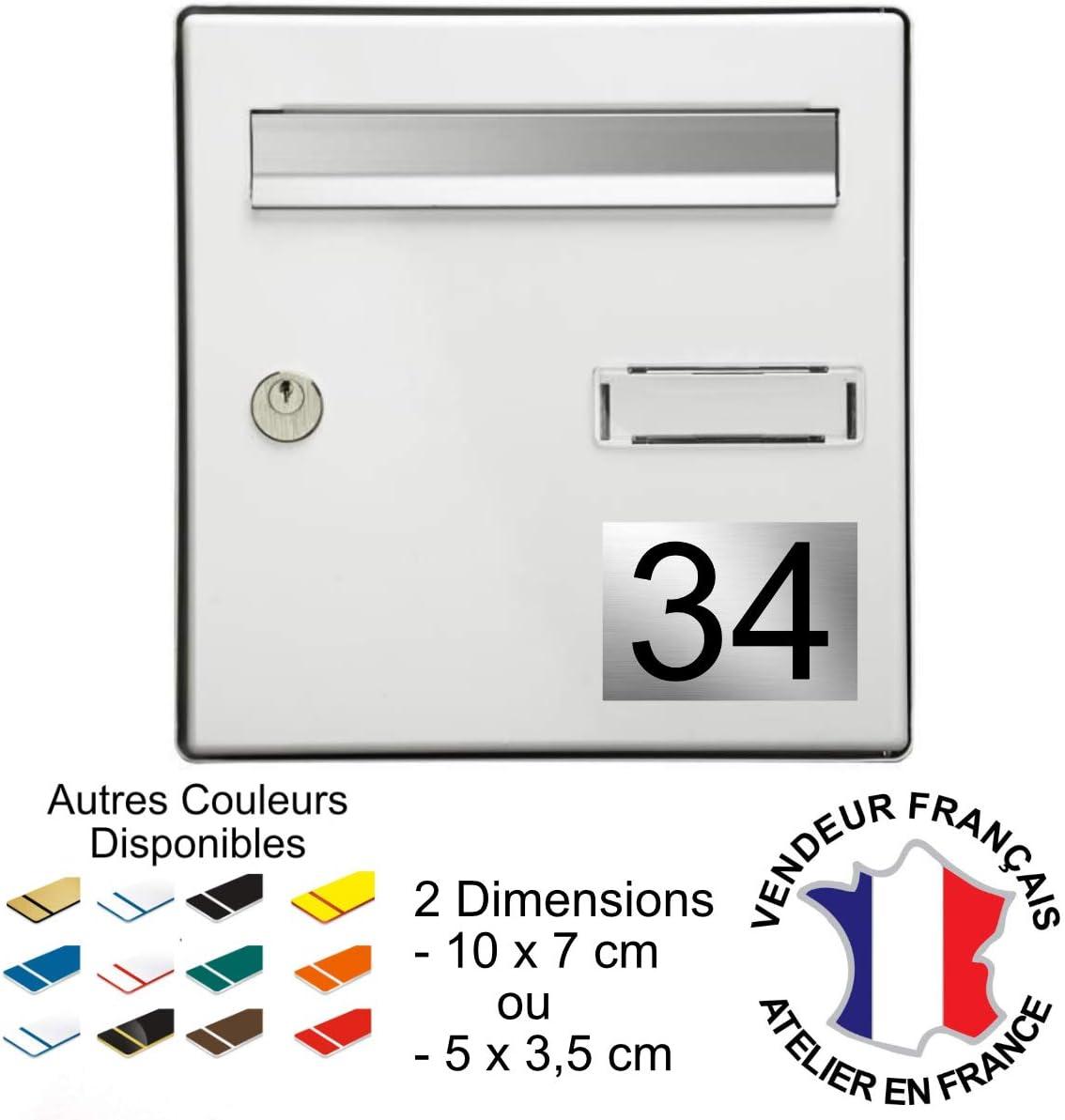 Num/éro pour boite aux lettres personnalisable grav/é PVC