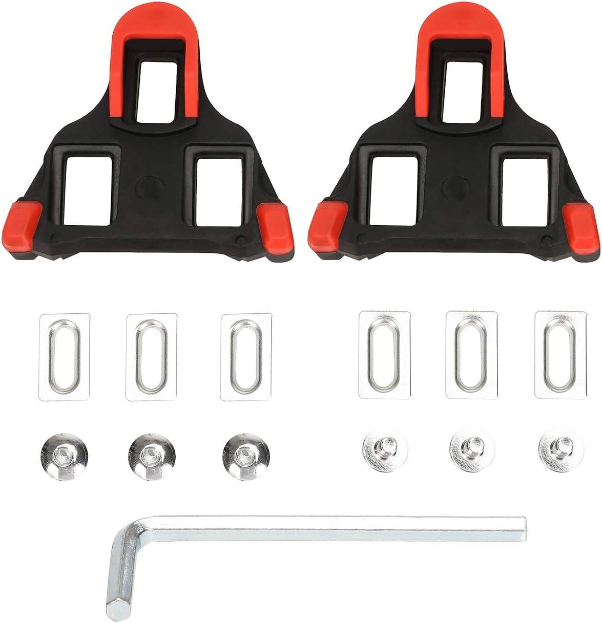 Juego de tacos para bicicleta autobloqueantes, para ciclismo y bicicleta de carretera, compatible con zapatos Shimano/&Look #81539 Beststar