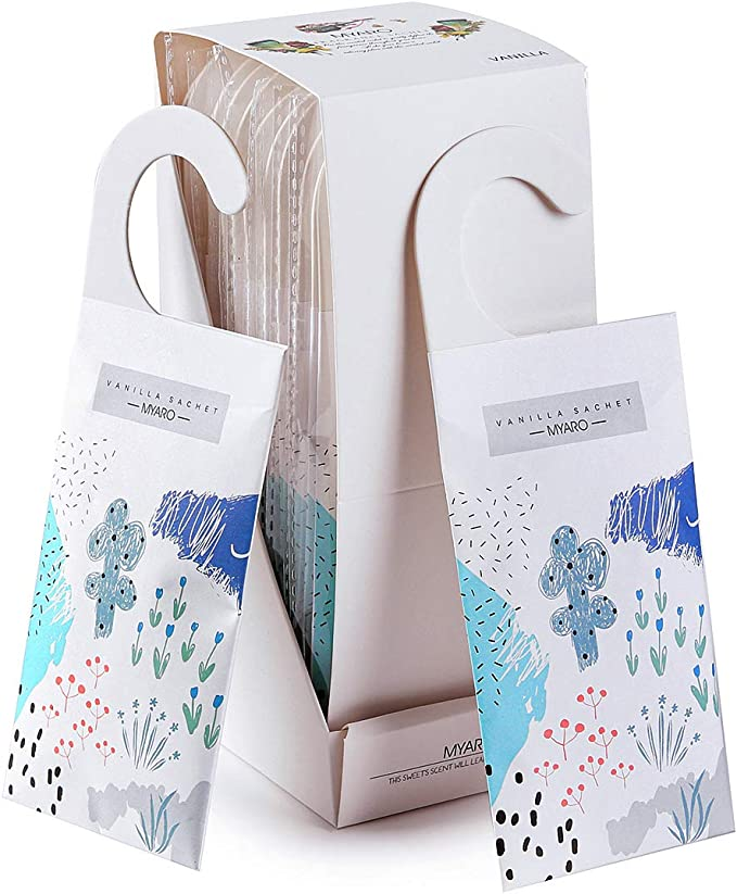 Amazon.com: MYARO Large 12 Packs Vanilla Scented Sachets for Drawer and Closet with Hanger, Long-Lasting Sachets Bags Home Fragrance Sachet: Home & Kitchen