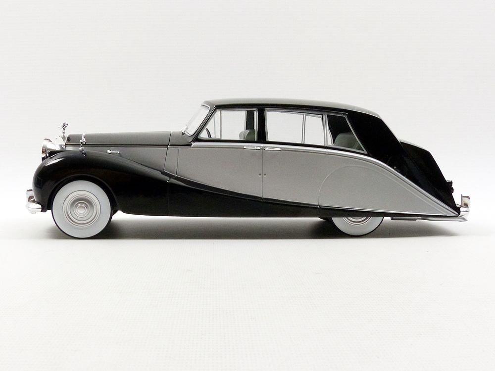 18065BKS Noir//Argent Maquette-Rolls-Royce Silver Wraith Empress by Hooper-1956-Echelle 1//18 MCG