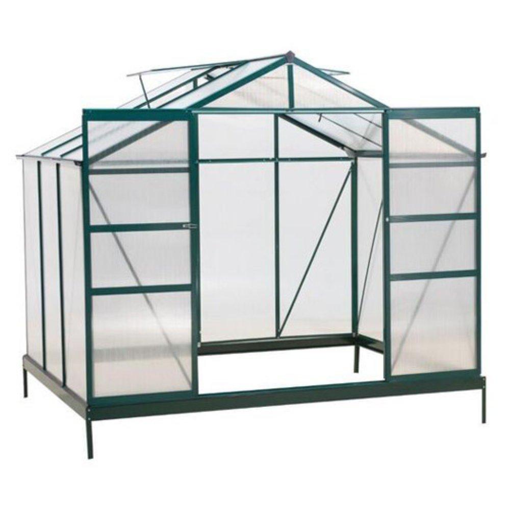 Sunjoy 6' x 8' Aluminum Frame And Polycarbonate Greenhouse