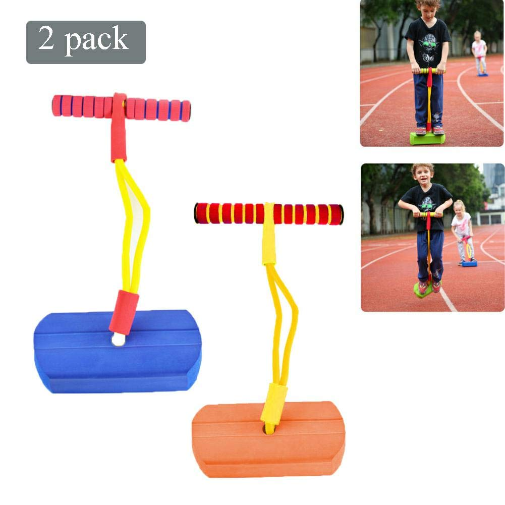 Pogo Stick Children's Jumping Stick Toy Bouncing Bubble Jumper Durable for Boys and Girls,E