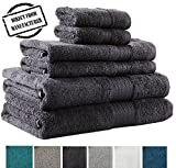 Avira Home 100% Cotton Extra Large Bath Towels set, 6 Piece Towel Set, 2 Bath Towel, 2 Hand Towel, 2 Face Towels, 600 GSM, Machine Washable, Highly Absorbent