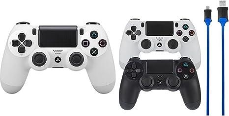 Sony - Dualshock 4 V2 Mando Inalámbrico, Color Blanco (Glacier ...
