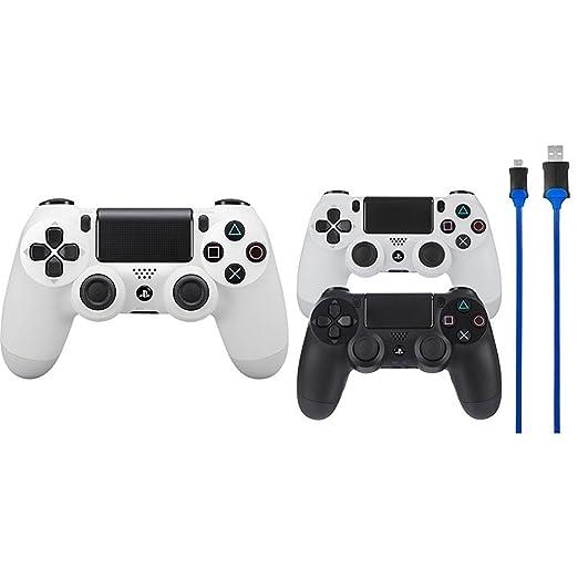 Sony - Dualshock 4 V2 Mando Inalámbrico, Color Blanco (Glacier White) (PS4
