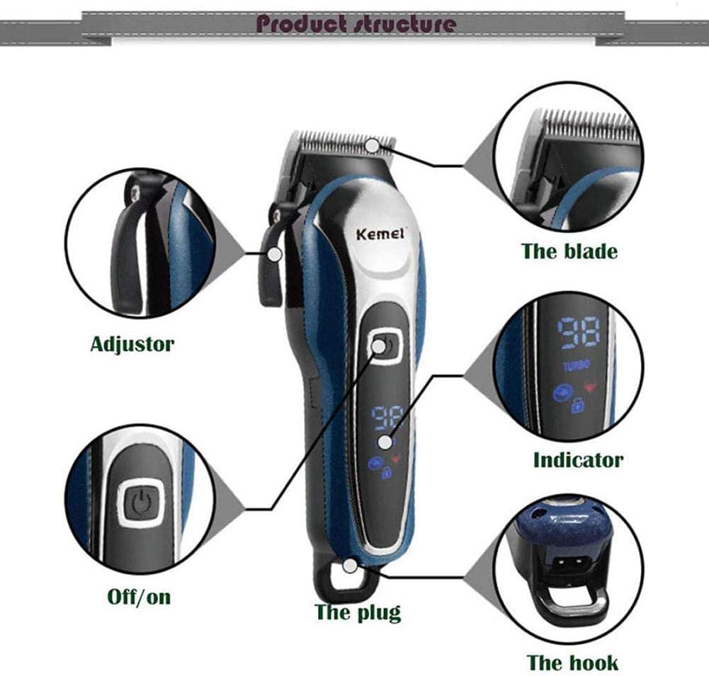 BCXGS Cortapelos con Sistema de aspiración de Alto Rendimiento, Máquina Cortar Pelo con Recubrimiento de Titanio y Cuchillas autoafilables con 4 peines