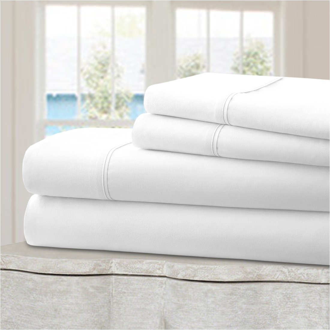 Ideal Linens Bed Sheet Set - Velvety Double Brushed Microfiber Bedding - Hotel Quality