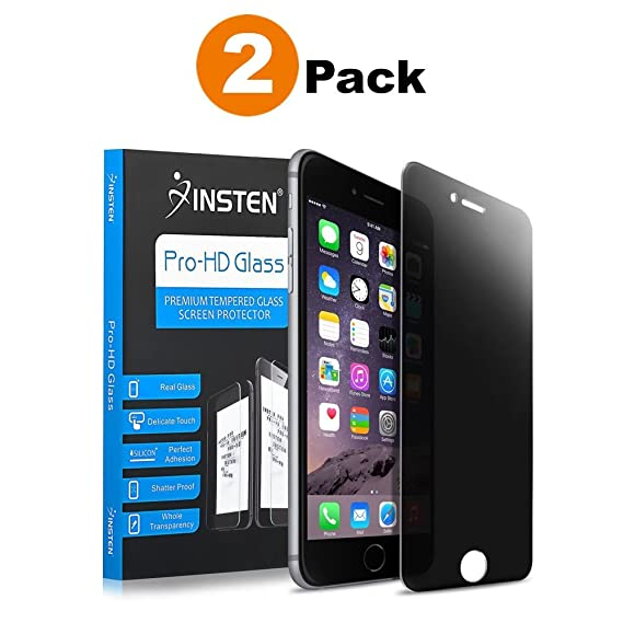 Insten [2 Pack] [Tempered Glass] Screen Protector Compatible with Apple  iPhone 8 Plus / 7 Plus (5 5