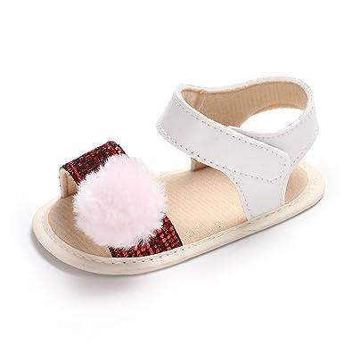 7d80a9e676ac BENHERO Infant Baby Girls Bowknot Open Toe Sandals Soft Sole Toddler Summer  Shoes(11cm(