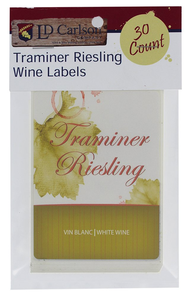 Home Brew Ohio Traminer Riesling Wine Labels
