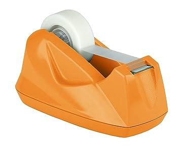 Acrimet Premium Dispensador de Cinta Adhesiva (Color Naranja): Amazon.es: Oficina y papelería