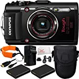 Olympus Stylus TOUGH TG-4 Digital Camera (Black) 9PC Accessory Kit. Includes 2 Replacement Li-90 Batteries + AC/DC Rapid Home & Travel Charger + Micro HDMI Cable + Point & Shoot Case + Floating Strap + MORE