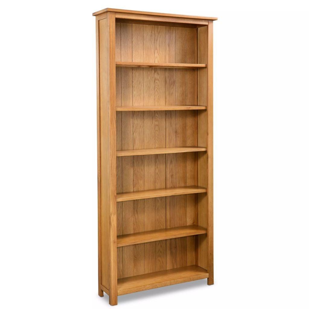 80x22,5x180 cm Tidyard Libreria in Legno Massello retr/ò Libreria Scaffale a 6 Ripiani
