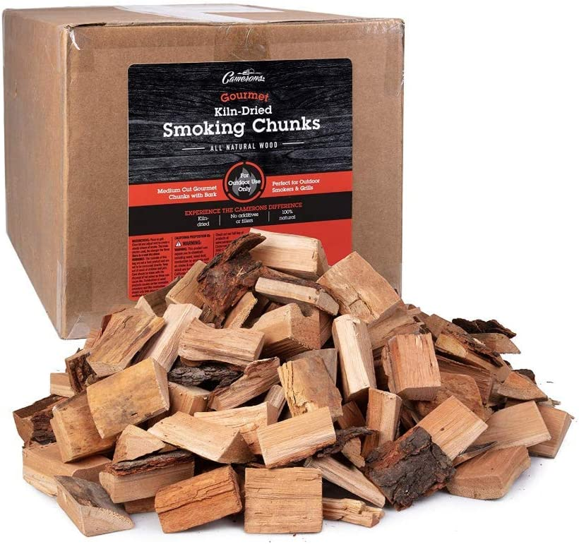 Camerons Gourmet Apple Smoking Wood Gourmet Blend Chunks- Approx. 20 lb, 1800 cu. in. - Bulk Value Pack- Kiln Dried BBQ Smoker Large Cut All Natural Wood for Smoking Meat