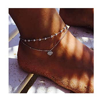 con cadena ajustable para el pie y la pulsera para el tobillo Tobillera de plata de ley con dise/ño de estrella de mar para mujeres y ni/ñas joyer/ía de verano