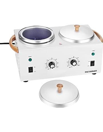 Calentador de cera, caliente de parafina Salon Spa Dual Pot depilatoria de cera calentador de
