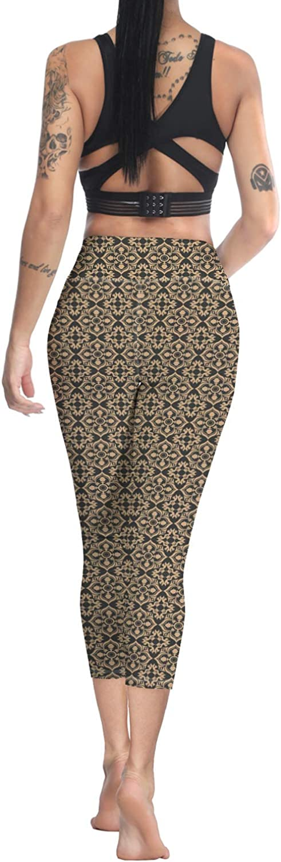 Printed Leggings for Women Easter Bunny Brunch 3//4 High Waist Yoga Pants Sport Gym Leggings Workout