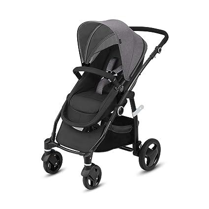 Cbx Leotie Flex - Cochecito 2 en 1 con asiento/capazo reversible, incluye cubierta para lluvia, desde el nacimiento hasta los 15 kg, Comfy Grey