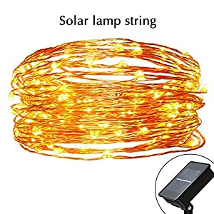 mtsugar LED String Light of Portable Solar Powered, for Christmas Easter Halloween Party Wedding Garden Store christmas tree (1.2V Waterproofed grade Ip65 and 8 flash modes) (LED lights 200pcs)