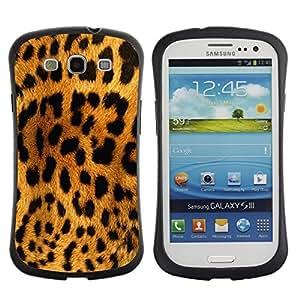 LASTONE PHONE CASE / Suave Silicona Caso Carcasa de Caucho Funda para Samsung Galaxy S3 I9300 / Leopard Pattern Brown Black Yellow Cat