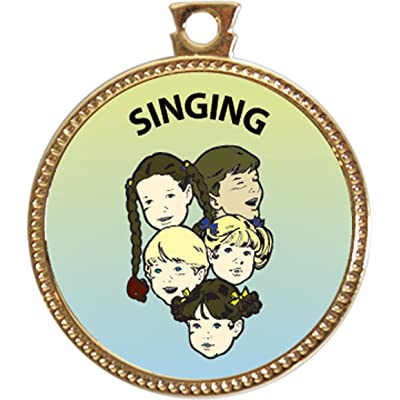 Keepsake Awards Singing Award, 1 inch Dia Gold Medal Music Arts Collection: Toys & Games