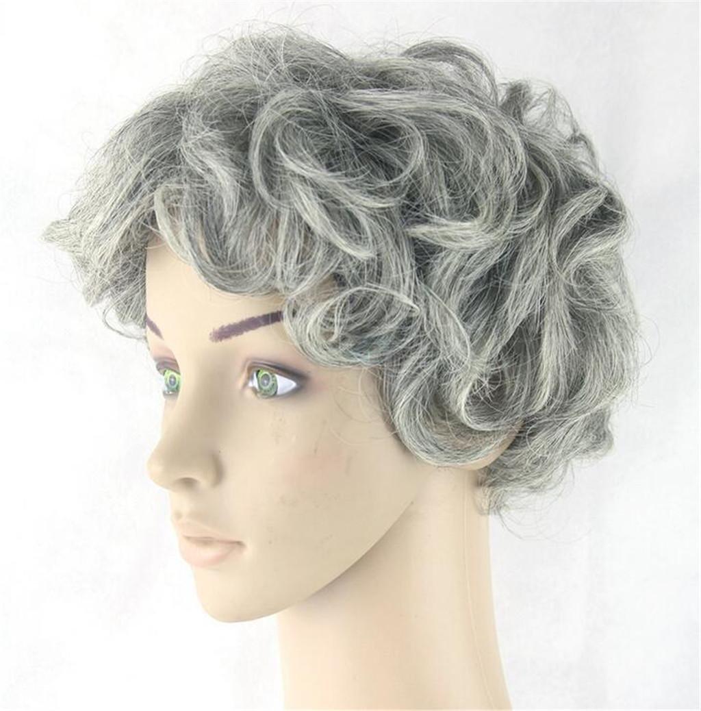 Cosplay de alambre gris alta temperatura vieja peluca de pelo corto hombre: Amazon.es: Deportes y aire libre