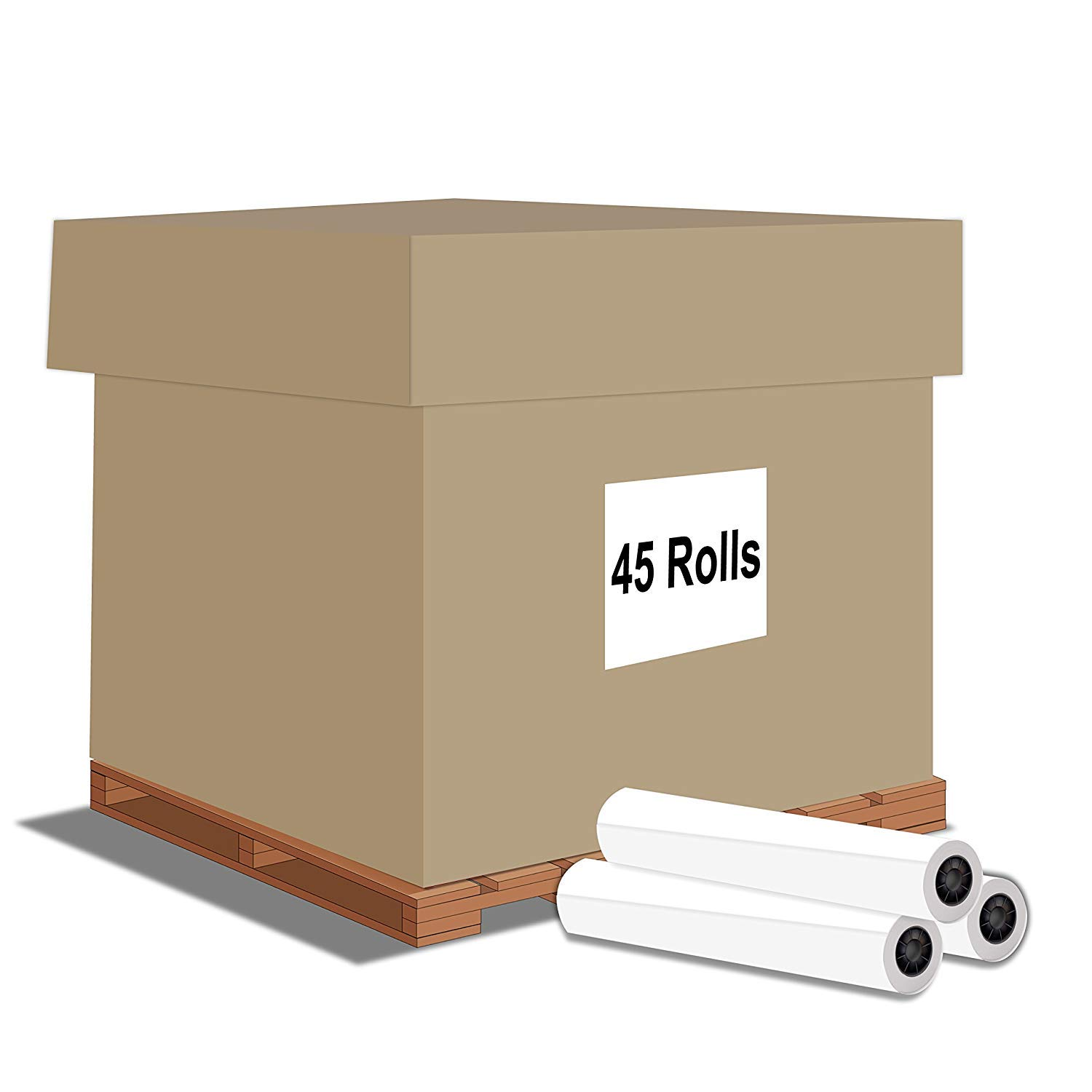 "Alliance Paper Rolls, Bond Engineering, 24"" x 500', 92 Bright, 20lb - 45 Rolls per Pallet with 3"" Core"