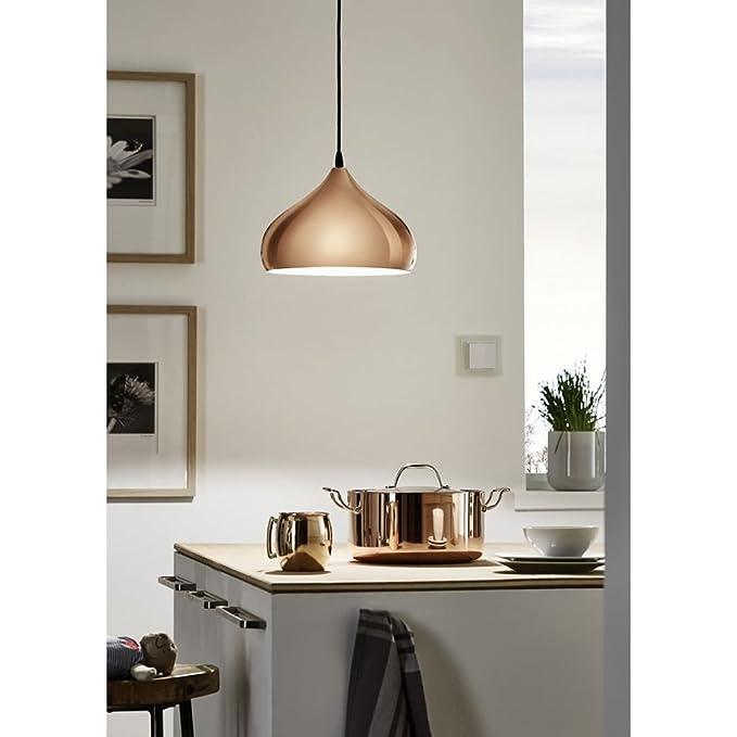 Eglo 49449 - Lámpara de techo, acero, color bronce: Amazon.es: Iluminación