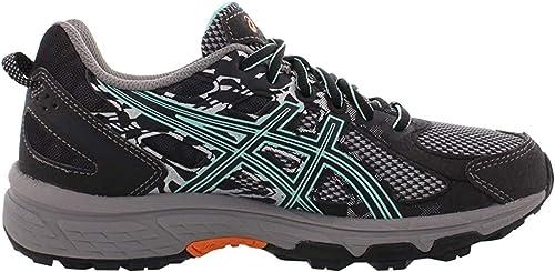 Asics - Gel-Venture 6 - Zapatillas deportivas para mujer, para correr, (Negro/verde hielo/naranja.), 39 EU: Asics: Amazon.es: Zapatos y complementos