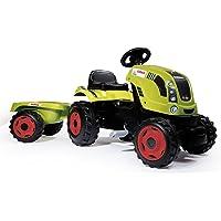 Smoby - 710114 - Claas - Tracteur Farmer XL + Remorque - Capot Ouvrable - Vert
