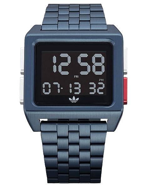 adidas Relojes Hombre Archive_M1. 70 Es El Estilo De Acero Inoxidable Reloj Digital Con 5