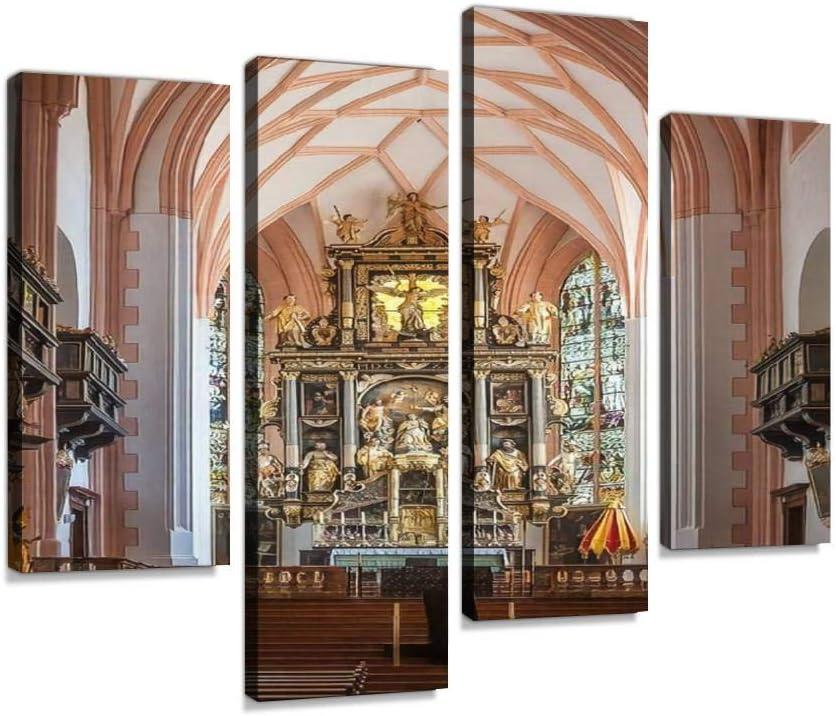 Lienzo para pared de la basílica de Mondsee Austria alpino ...