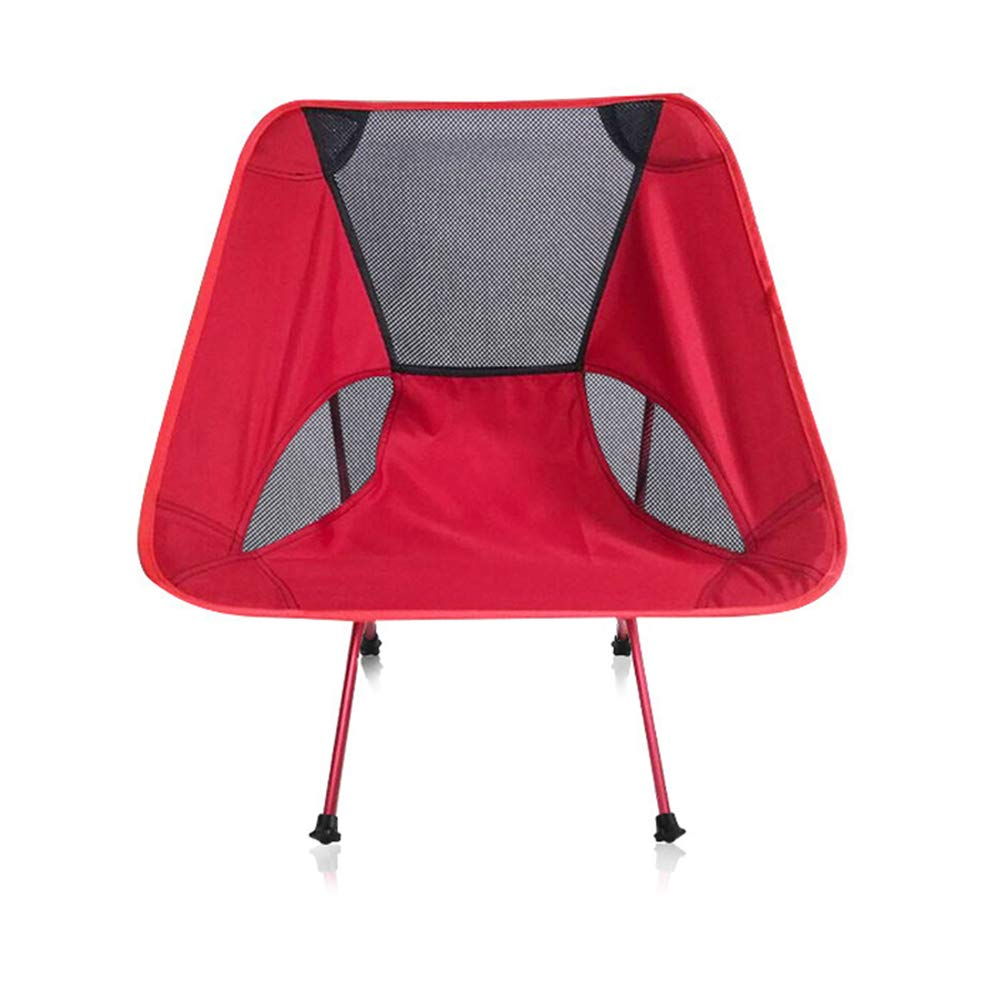 ZHANGJN Outdoor Camp Ultralight Chairs Aluminum Folding Packable Chairs with Carry Bag for Outdoor, Camp, Picnic, Hiking-Red by ZHANGJN