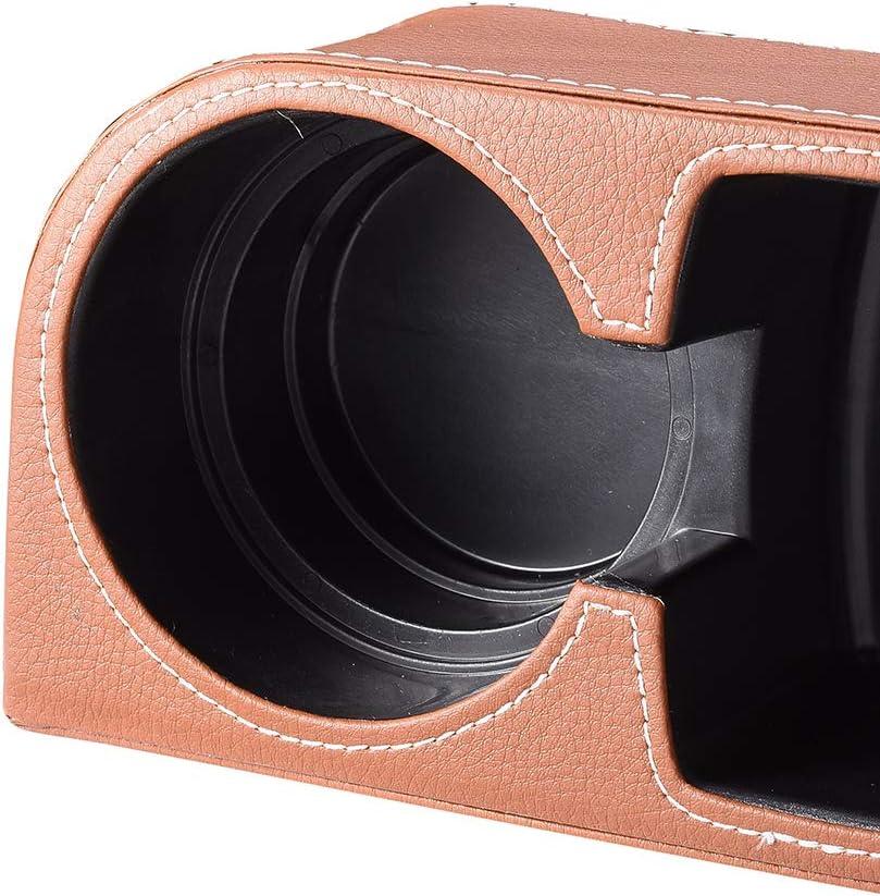 ATMOMO Gray Multifunctional Car Cup Holder Car Seat Organizer Gap Filler Bottle Phone Storage Organizer