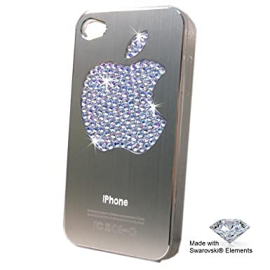Apple iPhone 5 5S Silver case - Apple Logo Decorated with GENUINE Swarovski®  Crystals ! Crystal color  Crystal  Amazon.co.uk  Electronics fcf337d64